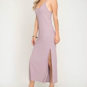 Misty mauve Maxi Dress